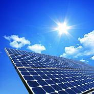 Bild vergrößern: sun and solar panel © panthesja - Fotolia.com